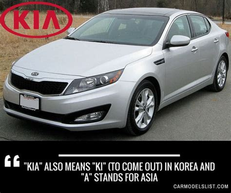 Complete List Of All Kia Models