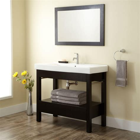 "40"" Sylar Black Console Vanity   Bathroom"