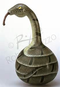 Hand Painted Snake Gourd