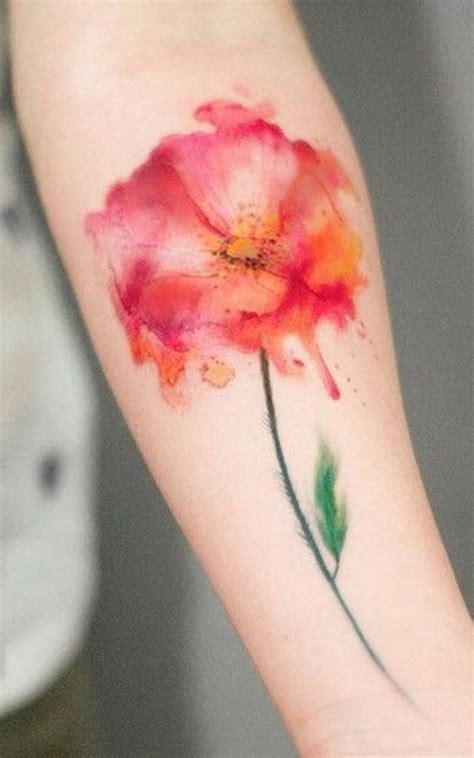 40 Breathtaking Watercolor Flower Tattoo Designs Amazing