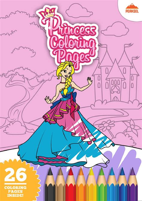 file princess coloring pages coloring book for pdf 364   page1 1240px Princess Coloring Pages Coloring Book For Kids.pdf