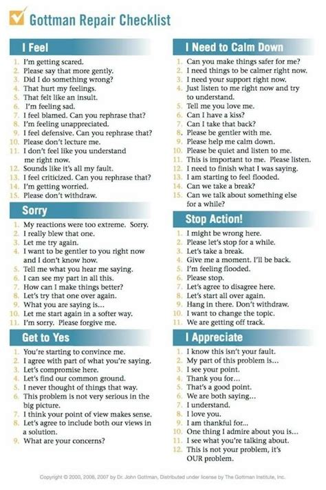 repairing relationships  recovery worksheets