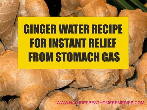 Drink Ginger Water To Relieve Stomach Gas