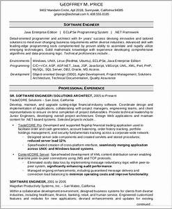 54 engineering resume templates free premium templates With professional software engineer resume