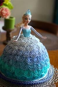 Elsa, Birthday, Cake, Disneys, Frozen, Elsa, Doll, Cake, Made, With