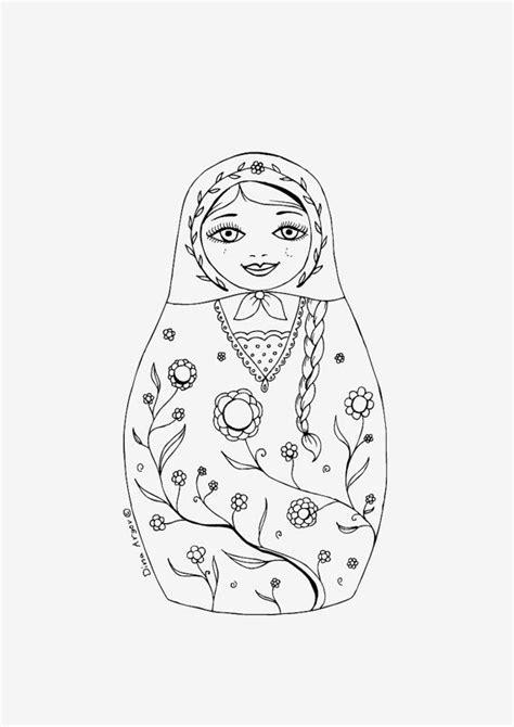 Matroesjka Kleurplaat by Printable Coloring Page Pdf Matryoshka Illustration By