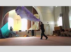 flag dancing training Brighton movement in worship YouTube