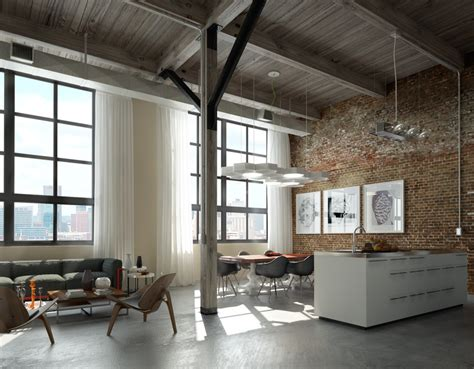 canape desing brick wall studio apartment inspiration