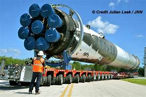 Recovered SpaceX Falcon 9 Booster Moves Back to KSC for ...