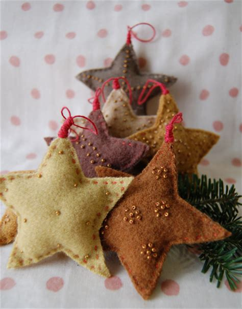 picture of felted wool star ornaments