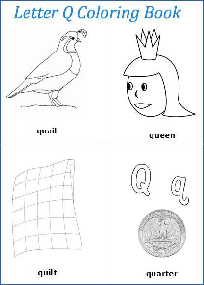 words with letter q theme alphabet letters worksheets free printable 25758 | c47ed34970f6b699a35dc3556556e3a3