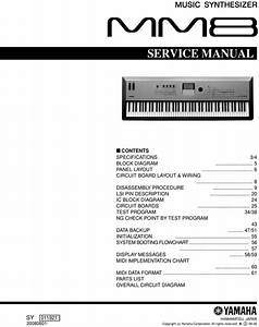 Yamaha Mm8 Synthesizer Service Manual  Mm-8