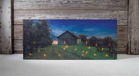 Flickering Light Canvas by Birch Candles Flickering Lights Radiance Lighted Canvas