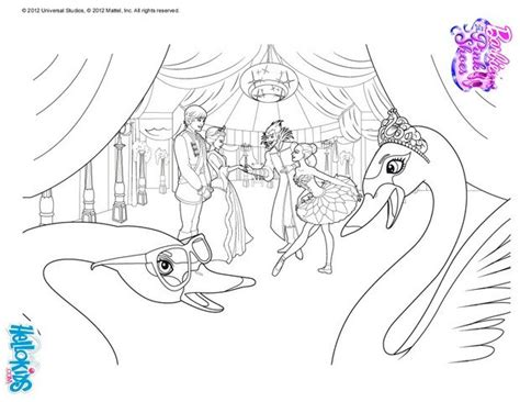 Swans Under Snow Queen Curse Coloring Pages