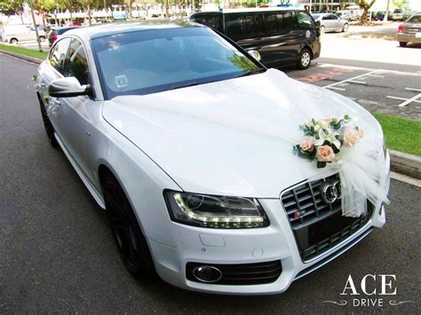 wedding car decorations white audi s5 wedding car decorations by ace drive car rental