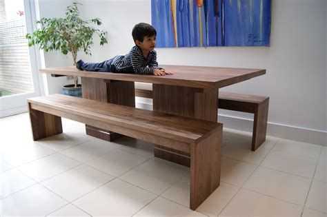 diy kitchen banquette walnut dining table benches mijmoj