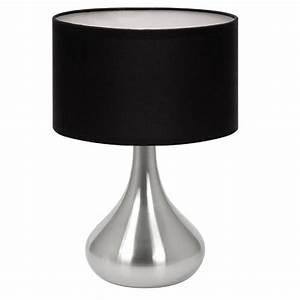Lampe De Chevet Noir : lampe de table touch hannah noir tissu et acier achat vente lampe de table touch hannah ~ Teatrodelosmanantiales.com Idées de Décoration