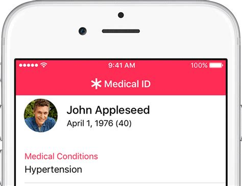 how to use the id feature in apple s ios health app