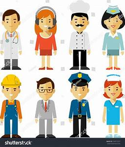 Different People Professions Characters Set Stock Vector