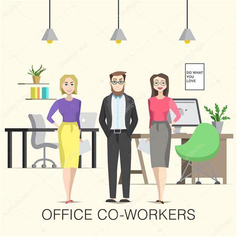 le de bureau illustration de collègues de travail de bureau avec les