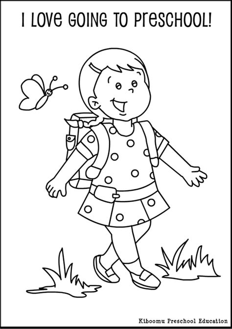 preschool  day  school coloring pages preschool