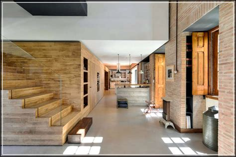 Precious House Design Pictures with Brick and Wood