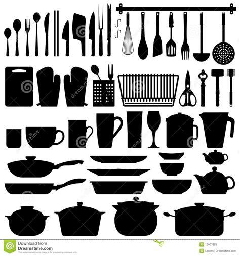 photos d ustensiles de cuisine vecteur de silhouette d 39 ustensiles de cuisine photo libre