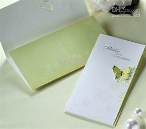 3d butterfly wedding invitations come come with envelopes With 3d wedding invitations glasses