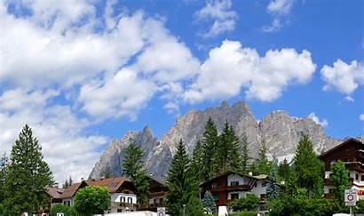 Cortina Italy Ampezzo Background Hotel Resort Ski