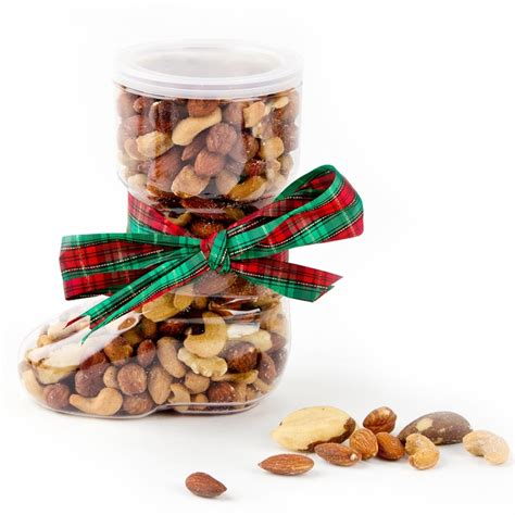 holiday small mixed nuts boot gift 26oz holiday nut