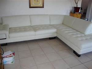 canape d39angle en cuir blanc a donner 31000 c annonces With canape angle toulouse