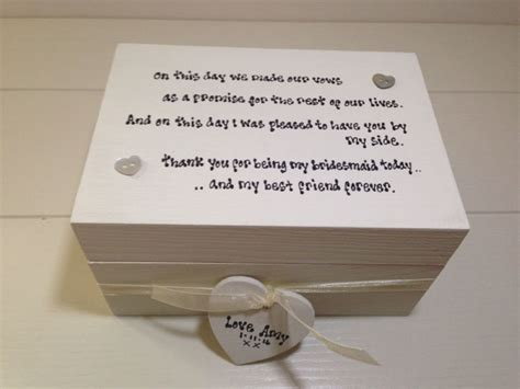 shabby chic personalised shabby personalised chic gift bridesmaid matron maid of honour trinket box