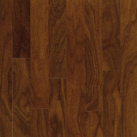 hardwood flooring walnut bruce town hall exotics walnut autumn brown 3 8 in t x 5 in w x random length engineered