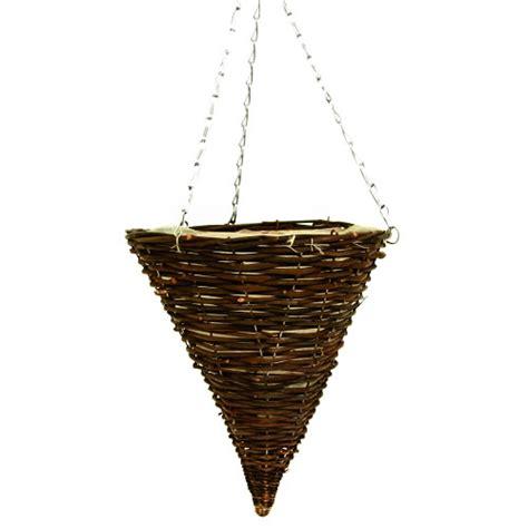 dark rattan cone hanging basket farwicb2 163 2 40 bhgs ltd suppliers of horticultural