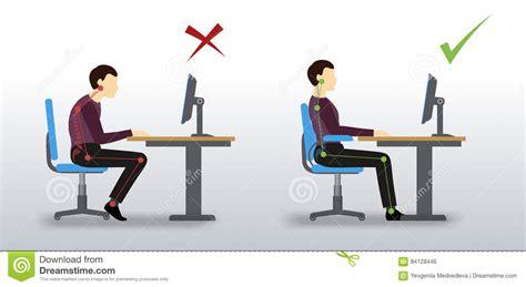 posizione seduta corretta ergonomico posizione di seduta sbagliata e corretta