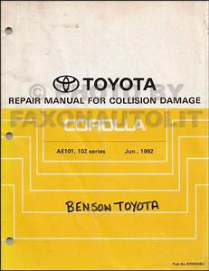 1992 Toyota Corolla Electrical Wiring Diagram And