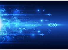 Blue Arrow Science And Technology Background Vector