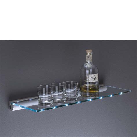 Led Lit Glass Shelf Kit 600x200x8mm Mastershelf
