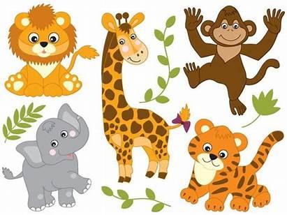 Safari Animals Clip Clipart Vector Animal Jungle