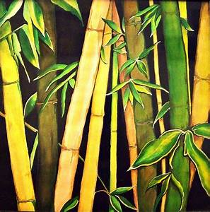 Bamboo Art Paintings | Bamboo Leaves Painting by Ivy ...