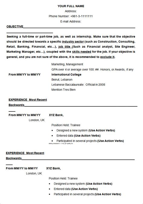 Resume Templates Open Office by Resume Templates For Openoffice Open Office Resume