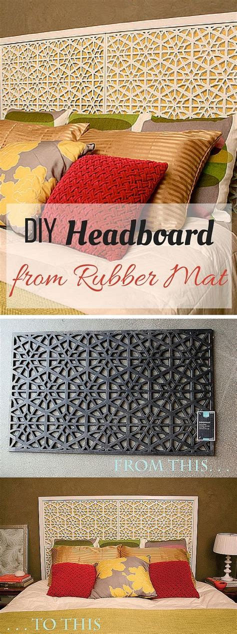 Rubber Doormat Headboard by Check Out The Tutorial Diy Rubber Mat Headboard