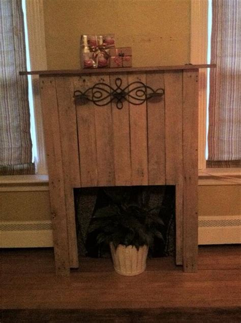 diy faux fireplace diy pallet faux fireplace with mantle pallet furniture diy