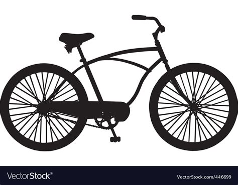 Cruiser Bicycle Royalty Free Vector Image