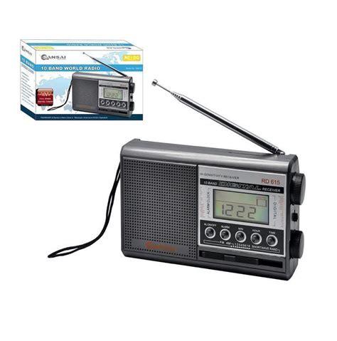 l radio alarm clock sansai digital am fm sw1 8 10 band world radio with alarm