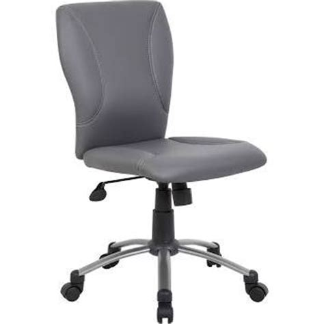nationwide office furniture grey leather armless task