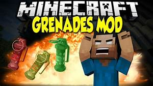 Minecraft Mod Spotlight: AMAZING GRENADES | Nuke, Black ...