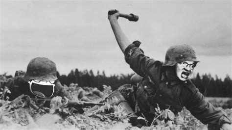 Two German Soldiers Fighting On The Western Front, Circa