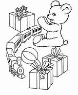 Coloring Christmas Toys Pages Gift Toy Printable Scenes Train Printables Gifts Presents Holiday Giving Trains Popular Help Printing Story Kid sketch template