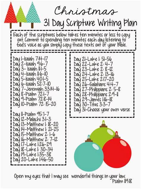 sweet blessings christmas scripture writing plan